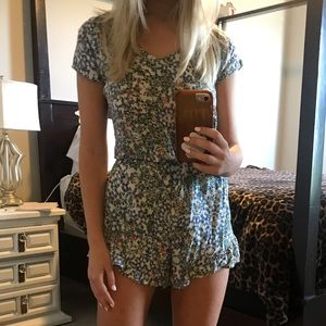 Abercrombie & Fitch Floral Short-Sleeve Romper